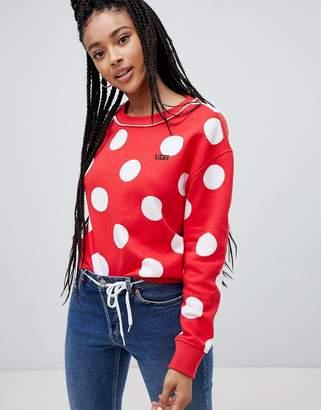 Vans X Disney minnie boxy spot sweatshirt