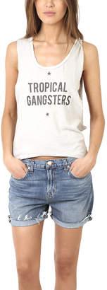 Warehouse Via Spare Silk Noil Tropical Gangsters Tank