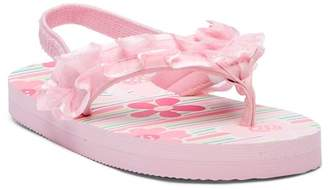 Laura Ashley Ruffle Flip Flop Sandal (Toddler & Little Kid)