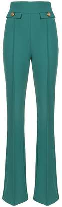 Elisabetta Franchi flared high-waisted trousers