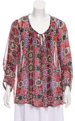Rebecca Minkoff Printed Long Sleeve Top