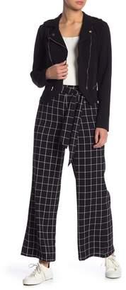 Blu Pepper High Rise Windowpane Paperbag Pants