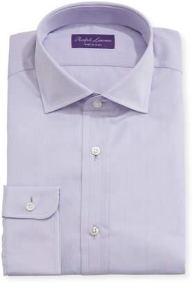 Ralph Lauren Solid End-on-End Cotton Dress Shirt