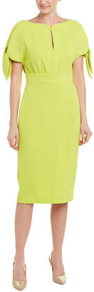 Lela Rose Wool-Blend Sheath Dress