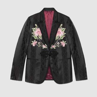 Gucci Leaves jacquard evening jacket