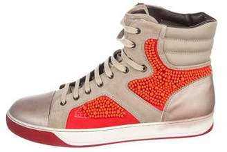 Lanvin Beaded High-Top Sneakers