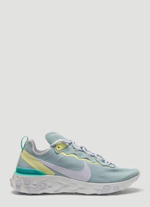 Nike React Element 55 Sneakers in Blue