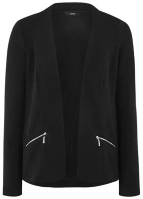 Blaze Black Open Front Blazer Jacket