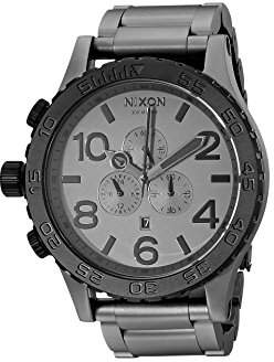 Nixon 51-30 Chrono Men's Underwater Stainless Steel Watch (51mm. Black & Gunmetal Face/Matte Black Stainless Steel Band)