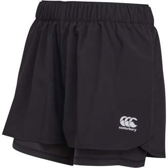Canterbury of New Zealand Womens VapoDri 2 In 1 Shorts Jet Black