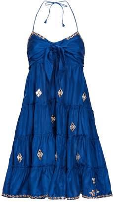 Juliet Dunn Embroidered Camisole Dress