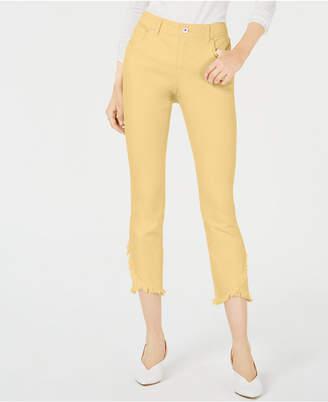 INC International Concepts I.n.c. Curvy Tulip-Hem Skinny Ankle Jeans