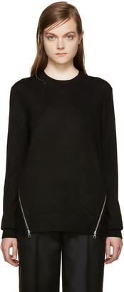 McQ Alexander Mcqueen Black Lace Back Pullover $415 thestylecure.com