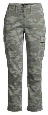 Hudson Jeans Jeans Women's Mid-Rise Crop Skinny Cargo Pants - Surplus Camo - Size 24 (0)