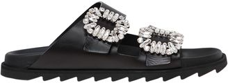 30mm Slidy Viv Leather Slide Sandals $1,250 thestylecure.com