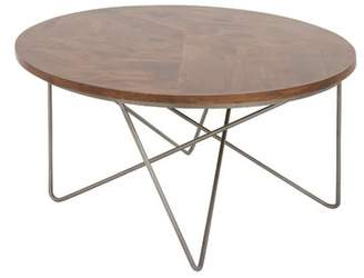 Cole & Grey Metal and Wood Coffee Table