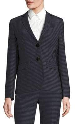 Piazza Sempione Striped Notch Lapel Blazer