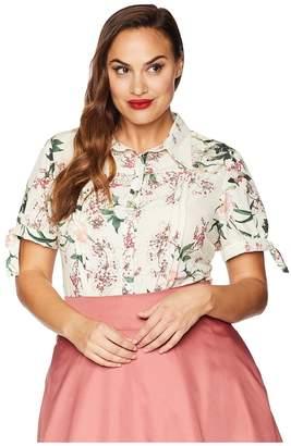 Unique Vintage Plus Size Colvin Blouse Women's Blouse