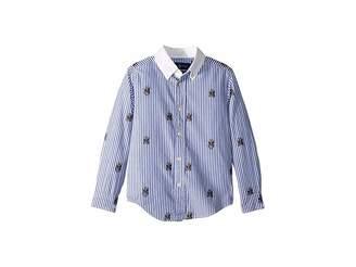 Polo Ralph Lauren Polo Bear Stretch Cotton Shirt (Little Kids/Big Kids)