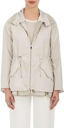Moncler Women's Eyelet-Hem Cinch-Waist Jacket $955 thestylecure.com
