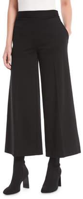 Fuzzi Interlock Solid Cropped Culotte Pants