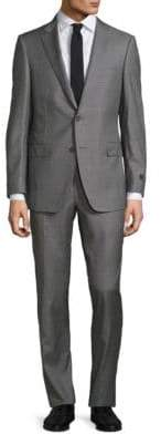 Saks Fifth Avenue COLLECTION BY SAMUELSOHN Classic-Fit Box Plaid Wool Suit