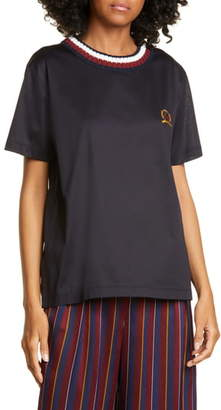 Tommy Hilfiger Rib Neck Crest Embroidered Tee