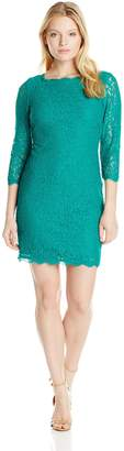 Adrianna Papell Women's 3/ Sleeve Lace Dress