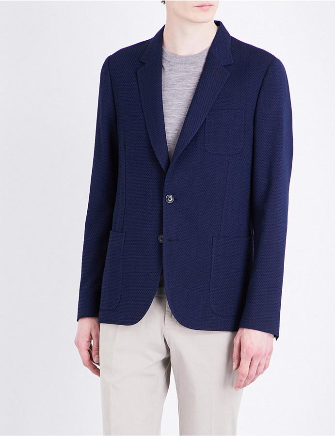 Paul SmithPaul Smith Textured Soho-fit wool jacket