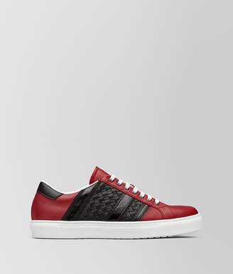 Bottega Veneta CHINA RED CALF TECH STRIPE SNEAKER