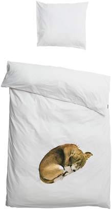 Dog Print Cotton Duvet Cover Set