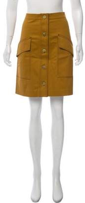 Acne Studios Button-Accented Knee-Length Skirt