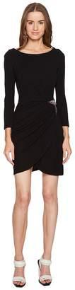 Just Cavalli Long Sleeve Jersey Star Dress Women's Dress