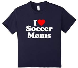 I Love Heart Soccer Moms Funny T-Shirt