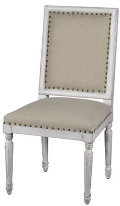 A&B Home Wood and Burlap Dining Side Chair