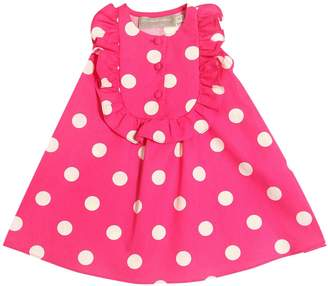 La Stupenderia Polka Dots Print Cotton Twill Dress