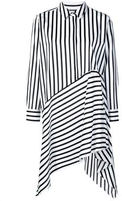 Marques Almeida Marques'Almeida asymmetric stripe shirt dress