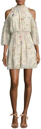 Rachel Zoe Meade Floral Cold-Shoulder Dress
