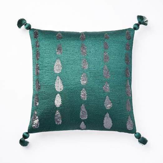 Sequins Teardrop Pillow Cover - Green Gables