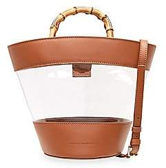 Loeffler Randall Women's Agnes Leather & PVC Fan Tote