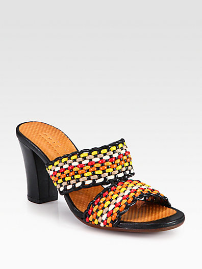 Chie Mihara Viky Woven Leather Sandals