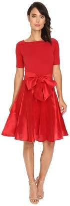 NUE by Shani Full Fashioned Knit Dress with Dupioni Skirt Women's Dress