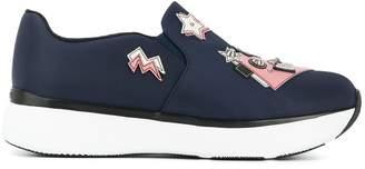 Flowered Move sneakers - Blue Prada AZNibgo