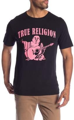 True Religion Neon Buddha Print Crew Neck Tee