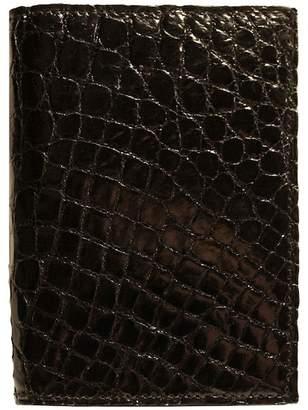 Boconi Crocodile Gusseted Card Case