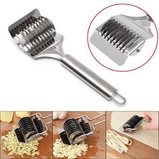 Kadell Stainless Steel Spaghetti Noodle Pasta Maker Lattice Roller Dough Cutter Sturdy Practical Kitchen Gadget Tool