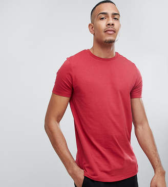 Asos Design DESIGN Tall organic t-shirt with crew neck in red