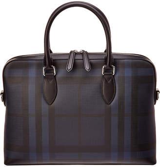 Burberry Check Barrow Leather Bag