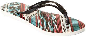 Havaianas White & Black Slim Tribal Flip Flops