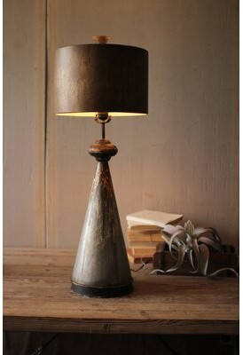 Ophelia & Co. Table Lamp With Metal Base And Shade & Co.